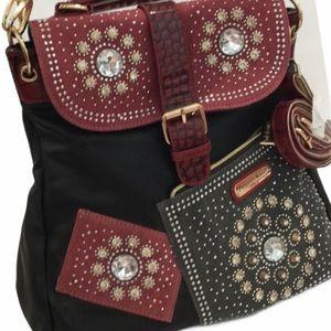 Convertible Handbag Backpack. Heavily Embellished